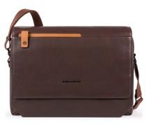 Tallin Laptoptasche Leder Laptopfach brown