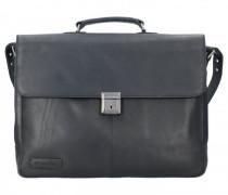 Navigator Aktentasche Leder Laptopfach schwarz
