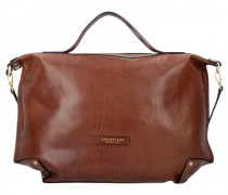 Icons Handtasche Leder marrone