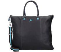 G3 Plus L Handtasche Leder nero