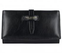 Florentin Geldbörse Leder black gold
