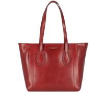 Giovanna Shopper Tasche Leder chianti-gold