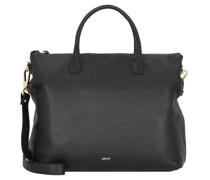 Gunda Handtasche Leder black/gold