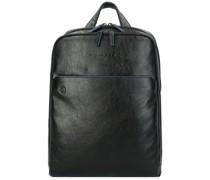 B2S Rucksack RFID Leder Laptopfach black