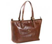 Story Donna Shopper Tasche Leder marrone