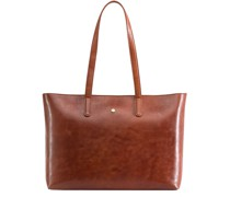 Madrid Shopper Tasche RFID Leder Laptopfach tan