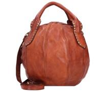Handtasche Leder 10, cognac