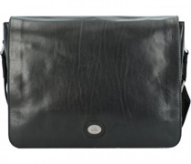 Aktentasche Leder Laptopfach nero