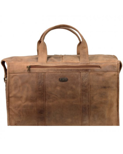 Antik Weekender Reisetasche Leder natur