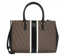 Whitney Handtasche mocha logo black
