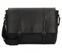 Blackwall Messenger Leder Laptopfach black