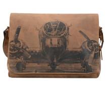 Aeroplane Messenger Leder Laptopfach brown