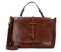 Dalston Handtasche Leder marrone
