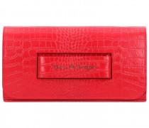 Clutch Tasche Leder 27cm rosso