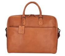 Antique Avery Aktentasche Leder Laptopfach cognac