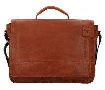 Upminster Aktentasche Laptopfach cognac