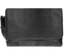 400er Serie Aktentasche Leder Laptopfach schwarz