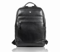 Berlin Rucksack RFID Leder Laptopfach black
