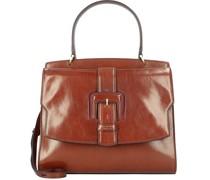 Fiorenza Handtasche Leder marrone-rosamagenta