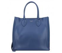 Shopper Tasche Leder blue navy