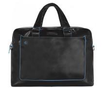 Blue Square Aktentasche III Leder Laptopfach black