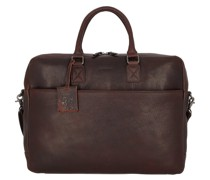 Antique Avery Aktentasche Leder Laptopfach brown