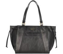 Camilla Shopper Tasche Leder black-gold
