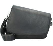 Umhängetasche Leder black