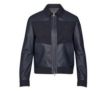 Jacke aus verschiedenen Lederarten