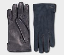 Handschuhe Aus Wildleder Und Fell Mit Kaninchenfutter