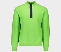 Pullover mit Reißverschluss aus Schurwolle