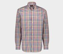 Buntes kariertes Hemd aus Baumwolle