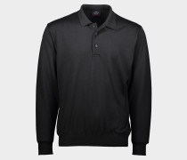 Winter summer Poloshirt mit längen Ärmeln aus extra feiner Merinowolle