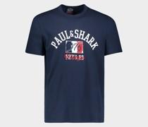 T-Shirt aus Bio-Baumwolle mit Paul&Shark-Logo im Vintage-Stil
