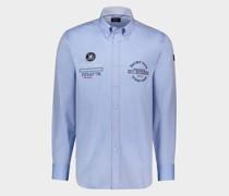 Oxford-Hemd aus Bio-Baumwolle mit nautischer Stickerei