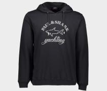 Sweatshirt aus Bio-Baumwolle mit Mega Logo Print
