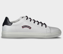 Schuhe aus Leder mit Patch Paul&Shark