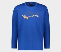 T-Shirt aus Bio-Baumwolle mit Fluo und Reflex Shark