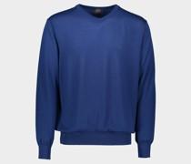 Pullover aus extra fine Winter Summer Merinowolle mit V-Ausschnitt
