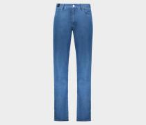 5 Pocket Vintage Jeans Light Stretch Blue Denim