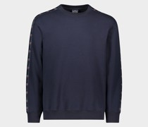 Sweatshirt aus Bio-Baumwolle mit Logo-Band