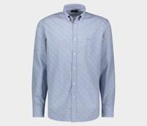 Bedrucktes Hemd aus Popeline Bio-Baumwolle