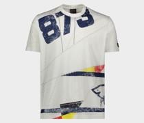 T-Shirt aus Bio-Baumwolle mit aufgedrucktem Segelmotiv