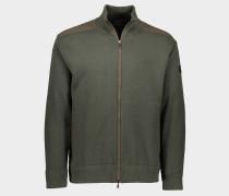 Jacke aus Wolle mit Reißverschluss und ikonischem Badge