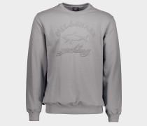 Sweatshirt aus Bio-Baumwolle mit Mega Logo Stickerei