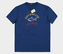 T-Shirt aus Baumwolle mit 3 Farben Logo Print