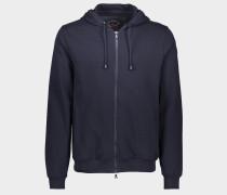 Sweatshirt mit Reißverschluss aus Bio-Baumwolle mit ikonischem Badge