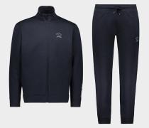 Anzug aus Bio-Baumwolle mit Logo Ton in Ton