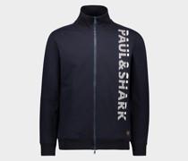 Sweatshirt aus Bio-Baumwolle mit durchgehendem Reißverschluss und Paul&Shark-Print
