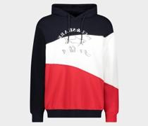 Sweatshirt aus Bio-Baumwolle mit Kapuze und aufgedrucktem Logo